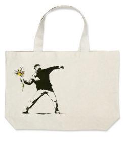 banksy cvijece torba