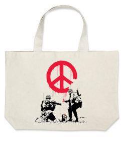banksy peace torba